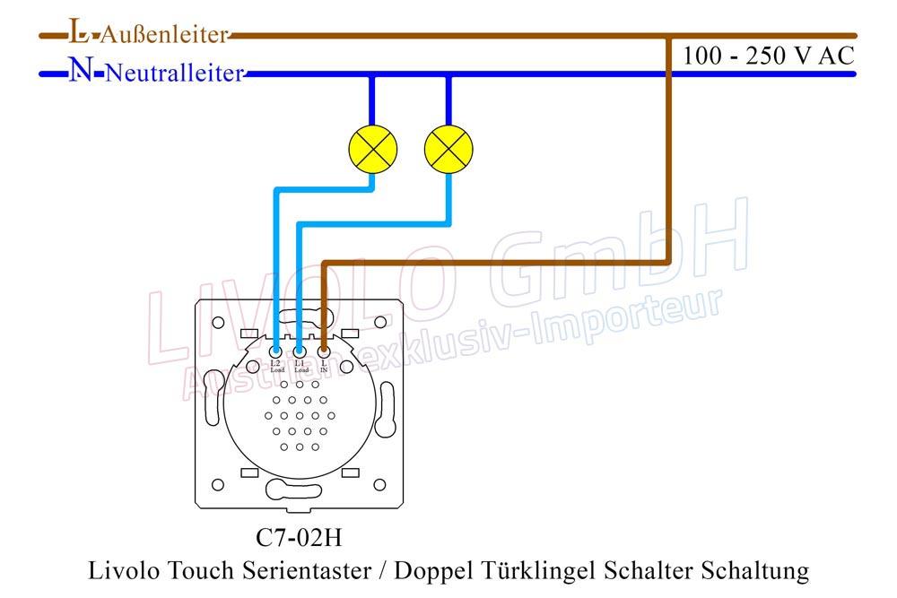 Livolo Touch Serientaster / Doppel Türklingel Schalter Schalter