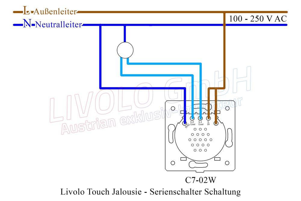 Livolo Touch Jalousie - Serienschalter Schaltung